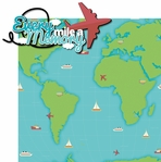 Globe Trotter: Every Mile A Memory 2 Piece Laser Die Cut Kit
