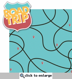 Globe Trotter: Road Trip 2 Piece Laser Die Cut Kit