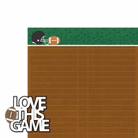 Go Team: Love This Game 2 Piece Laser Die Cut Kit