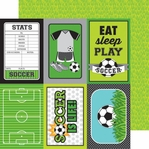 Goal!!: Soccer Field 12 x 12 Double-Sided Cardstock