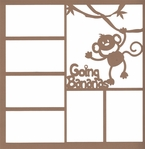 Going Bananas 12 x 12 Overlay Laser Die Cut