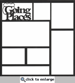 Going Places 12 x 12 Overlay Laser Die Cut