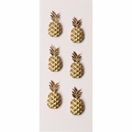 Gold Pineapples MINI Stickers