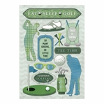 Golf: East, Sleep, Golf Cardstock Stickers