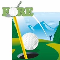 Golf: Fore 2 Piece Laser Die Cut Kit