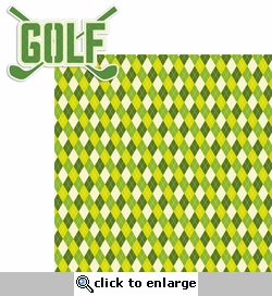 Golf: Golf 2 Piece Laser Die Cut Kit