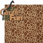Gone Wild: Giraffe Fun 2 Piece Laser Die Cut Kit