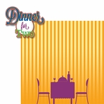 Good Eats: Dinner For Two 2 Piece Laser Die Cut Kit