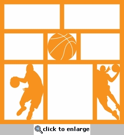 Got Game? Basketball 12 x 12 Overlay Laser Die Cut