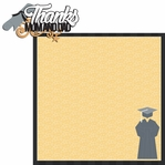 Grad: Thanks Mom and Dad 2 Piece Laser Die Cut Kit