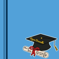 Graduation Custom Hat 12 x 12 Paper