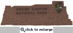 Grand Canyon National Park Laser Die Cut