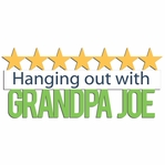 Grandma Grandpa: Custom Hanging out with  Laser Die Cut