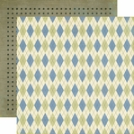 Grandpa's Tool Shed: Argyle 12 x 12 Double-Sided Paper