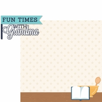 Grandparents: Fun Times with Grandma 2 Piece Laser Die Cut Kit