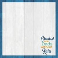 Grandparents: Spoiled By Grandpa 12 x 12 Paper