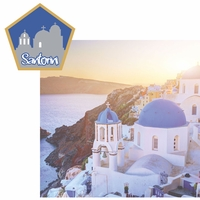Greece: Santorini 2 Piece Laser Die Cut Kit