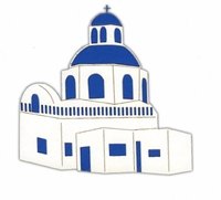 Greek Building Laser Die Cut