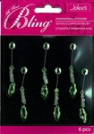 Green Marquise Swing Bling Dimensional Sticker