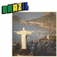 Greetings From: Brazil 2 Piece Laser Die Cut Kit