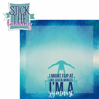 Gymnastics: Stick The Landing 2 Piece Laser Die Cut Kit