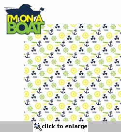 H2O Fun: I'm on a Boat 2 Piece Laser Die Cut Kit