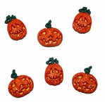 Halloween Collection: Glitter Pumpkins Buttons