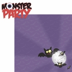 Halloween Fun: Monster Party 2 Piece Laser Die Cut Kit