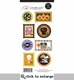 Halloween Parade: Seals Doodles Cardstock Stickers 3 x 6.5
