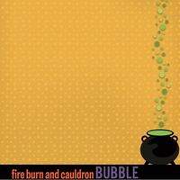 Halloween Sayings: Double Double Toil 12 x 12 Paper