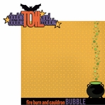 Halloween Sayings: Double Double Toil 2 Piece Laser Die Cut Kit