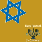 Hanukkah: Happy Hanukkah Custom 12 x 12 Paper
