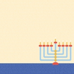 Hanukkah: Light The Menorah 12 x 12 Paper
