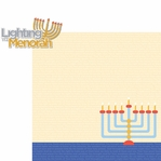 Hanukkah: Light The Menorah 2 Piece Laser Die Cut Kit