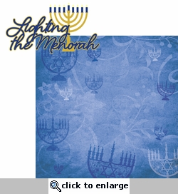 Hanukkah:Lighting The Menorah 2 Piece Laser Die Cut Kit