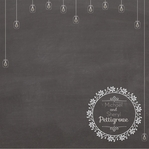 Happily Ever After Chalkboard Custom Wedding 12 x 12 Paper