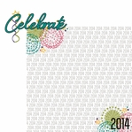Happy 2014! : Celebrate 2 Piece Laser Die Cut Kit