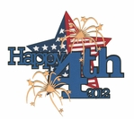 Happy 4th 2012 Laser Die Cut