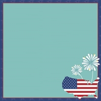 Happy 4th: 4th of July 12 x 12 Paper