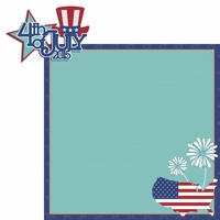 Happy 4th: 4th of July 2 Piece Laser Die Cut Kit