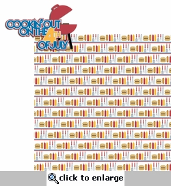 Happy 4th: Cookin' out 2 Piece Laser Die Cut Kit