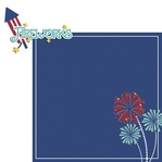 Happy 4th: fireworks 2 Piece Laser Die Cut Kit