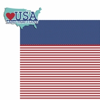 Happy 4th: Land that I love 2 Piece Laser Die Cut Kit