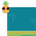 Happy Beach: Pineapple 2 Piece Laser Die Cut Kit