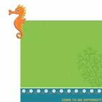 Happy Beach: Seahorse 2 Piece Laser Die Cut Kit