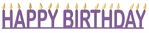 Happy Birthday Candle Border Laser Title Cut