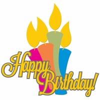 Happy Birthday Candles Laser Die Cut