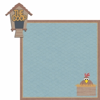 Happy Chickens: The Coop  2 Piece Laser Die Cut Kit