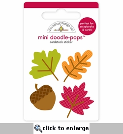 Happy Harvest: Mini Shades Of Fall Doodle-Pops 3-D Stickers