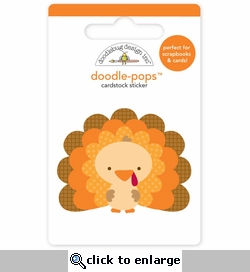 Happy Harvest: Tommy Turkey Doodle-Pops 3-D Stickers